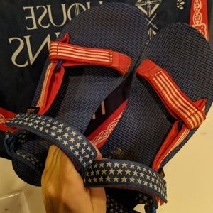 Women's Red White and Blue Teva